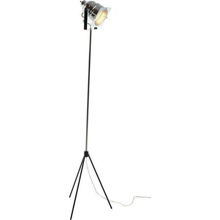 Adesso Spotlight Floor Lamp, Silver Finish