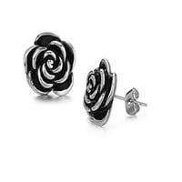ES Jewel GE224HB Stainless Steel Rose Earring