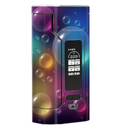 Skin Decal Vinyl Wrap For Wismec Predator 228 Vape Mod Stickers Skins Cover/ Rainbow Bubbles Colorful