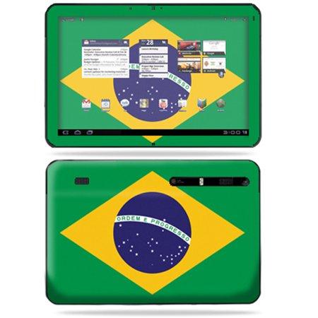 Mightyskins Protective Vinyl Skin Decal Cover For Motorola Xoom Tablet Wrap Sticker Skins Brazilian Flag