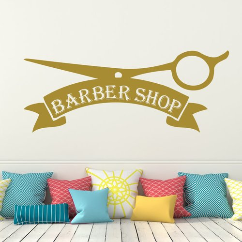 Decal House Barber Shop Wall Decal