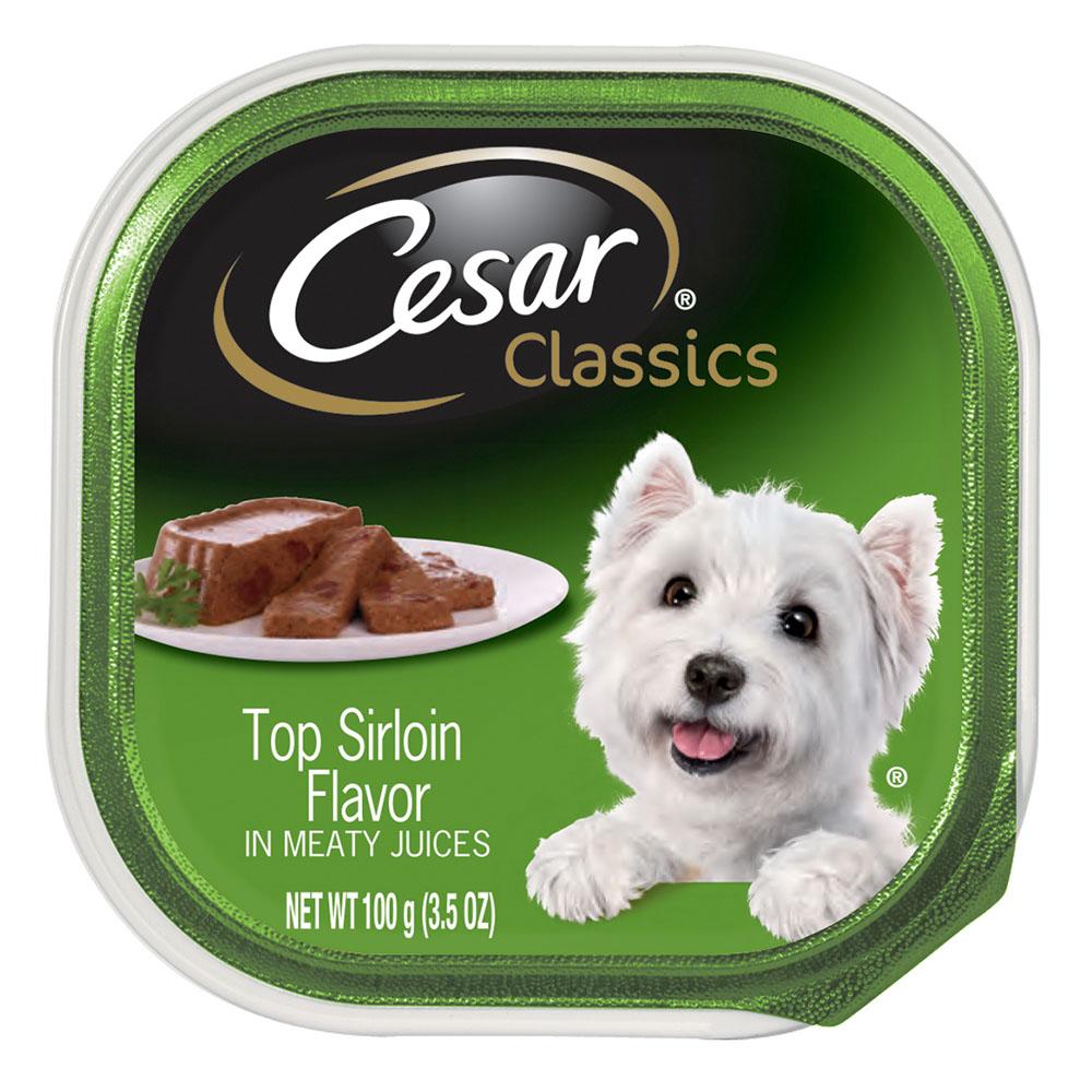 CESAR Canine Cuisine Top Sirloin Flavor Dog Food Trays 3.5 Ounces by Mars Petcare