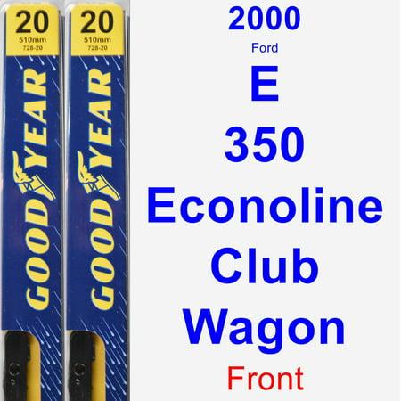2000 Ford E-350 Econoline Club Wagon Wiper Blade Set/Kit (Front) (2 Blades) - Premium