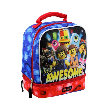 Lego Movie 2 The Second Part Boys Soft Dual Compartment School Lunch Box -