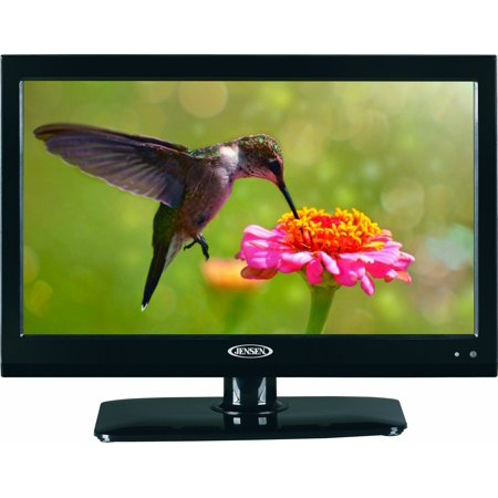 JENSEN JE1914DVDC 19″ LCD LED TV with Build-In DVD Player, High Performance Wide 16:9 LCD panel, Resolution 1366 x 768, Integrated HDTV (ATSC) Tuner, HDTV Ready (1080p, 720p, 480p), 12V DC power
