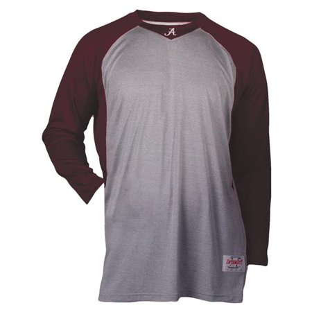 Extra Large Light Oxford - Intensity N6808Y922XLG Baseball Shirt with Sleeve for Boys, Oxford & Maroon - Extra Large