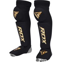 RDX Shin Guards for MMA Fighting | Boxing Training Knee Brace Support | Muay Thai Leg Protector Instep Foam Pads | Foot Protective Gear for Martial Arts, Sparring, Kickboxing, BJJ, Karate