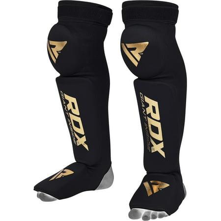 RDX Shin Guards Instep Leg Pads S3 Knee Support MMA Protector Foot Thai Kick - Mma Shin Instep Guards
