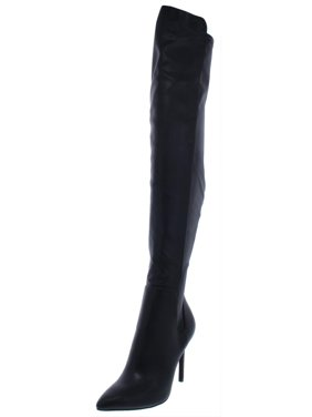 7146146377f Product Image Charles by Charles David Womens Perfect Faux Leather Over-The-Knee  Boots