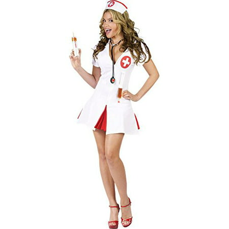 Nurse Say AHHH Adult Halloween Costume - Nurse Halloween Makeup