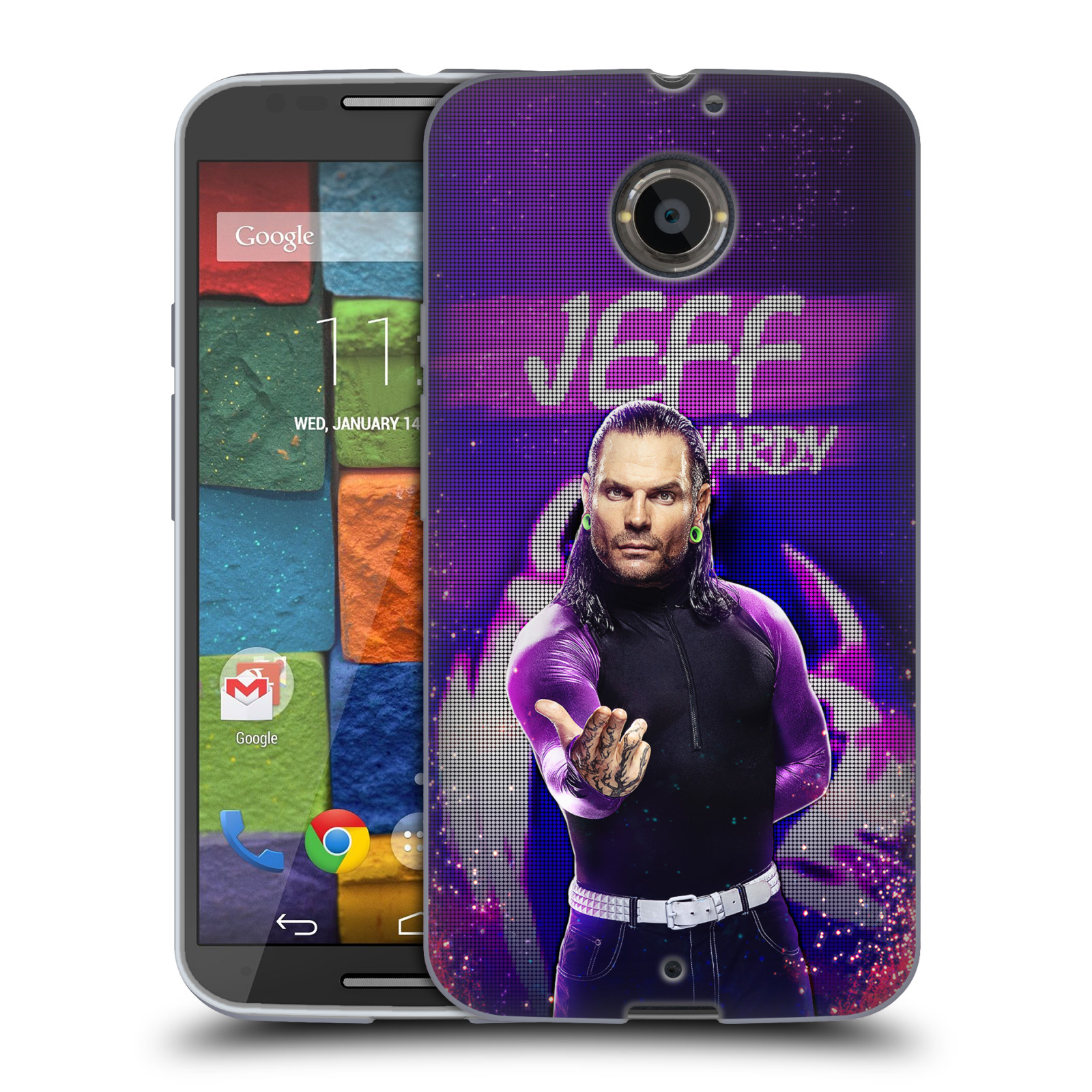 OFFICIAL WWE JEFF HARDY SOFT GEL CASE FOR MOTOROLA PHONES 2