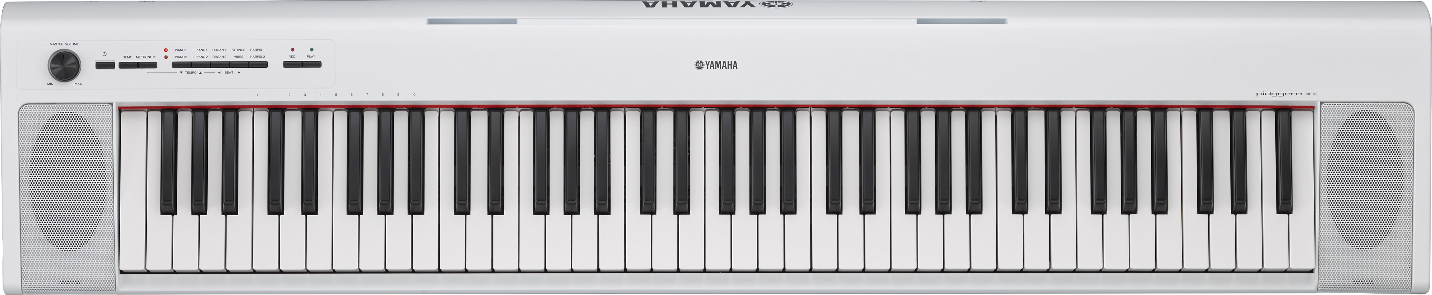 Yamaha NP32 76-Key Lightweight Portable Keyboard, White by Yamaha