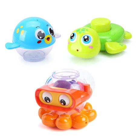 Huile Baby Bath Squirts Toy Water and Land Playsets Fun Toy