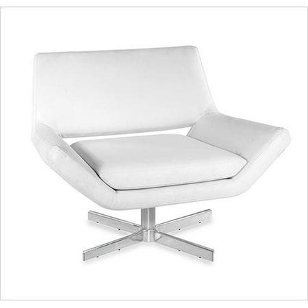Avenue Six 210010 Yield Wide Swivel Chair White Vinyl