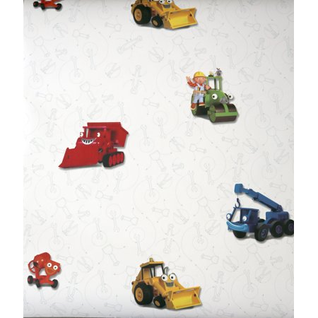 St  James   York Brothers   Amp  Sisters Iv Bt2805 Bob The Builder Wallpaper  Blue  Green