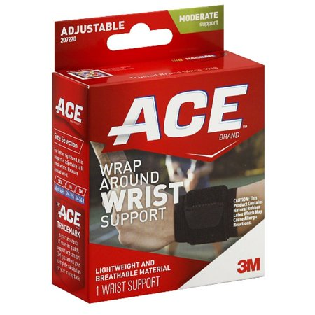 1 Wrap Around - Brand Wrap Around Wrist Support One Size, Heat retention helps improve circulation and promotes healing By ACE