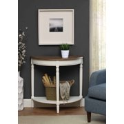 Convenience Concepts French Country Entryway Table, Driftwood/White Frame