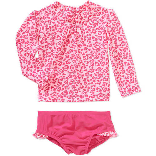 Child of Mine by Carters Baby Girls' 2 Piece Rash Guard Swim Set, Online Exclusive