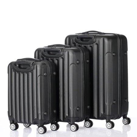 UBesGoo 3Pcs Luggage Hardside Lightweight Spinner Suitcase Bag Set w/TSA Dice Spinner Set