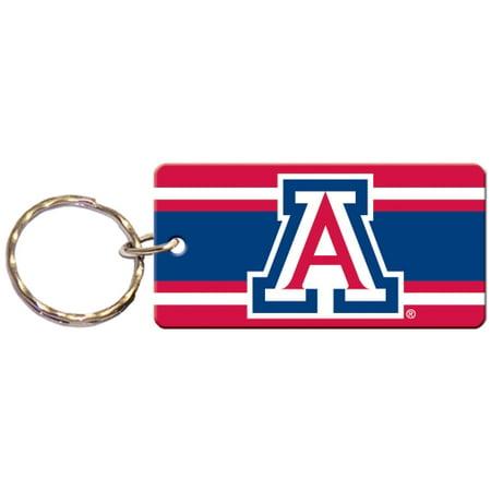 Arizona Wildcats Super Stripe Printed Acrylic Team Color Logo Keychain - No Size