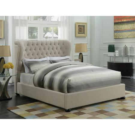 Pleasant Coaster Furniture Newburgh Wingback Upholstered Panel Bed Download Free Architecture Designs Scobabritishbridgeorg
