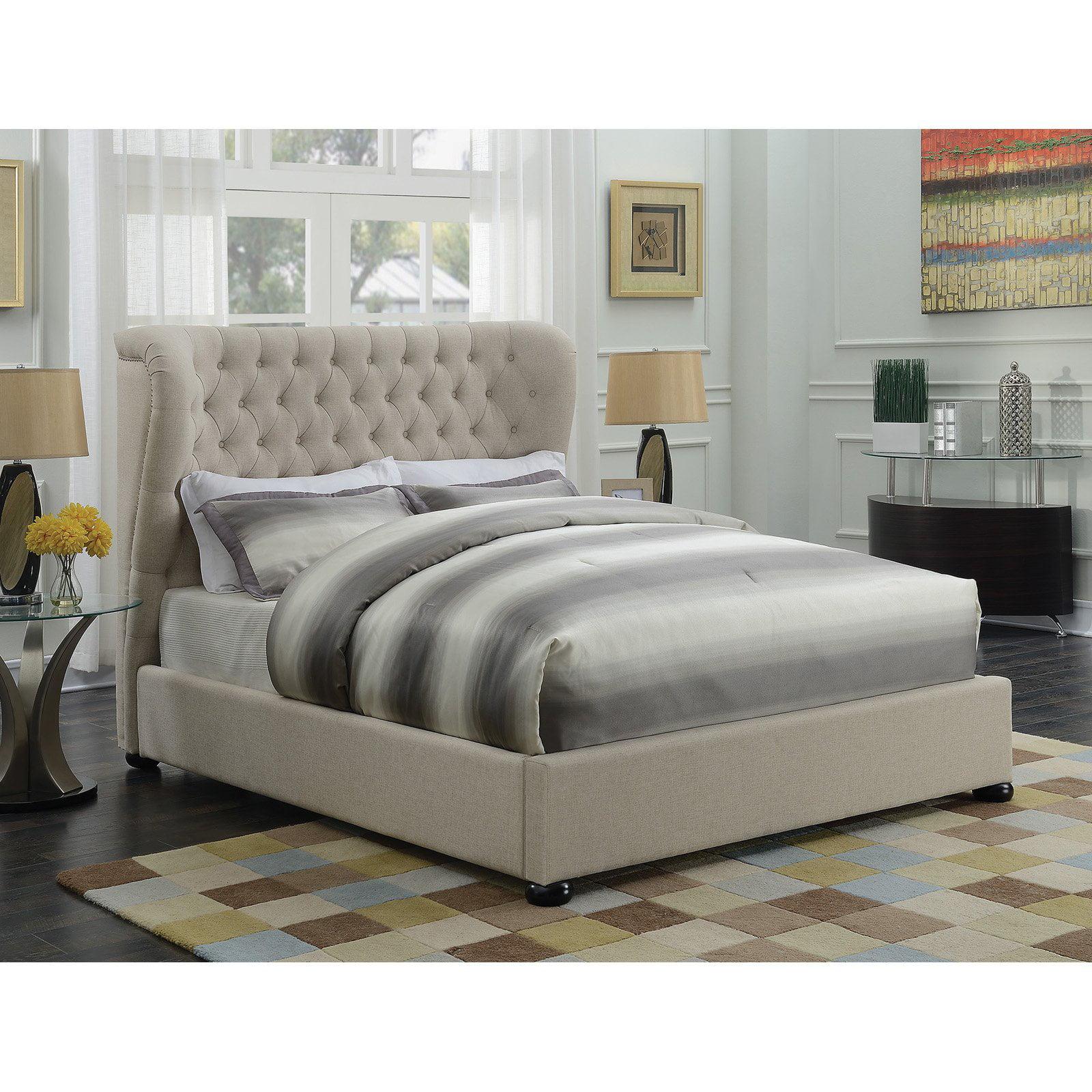 Coaster Furniture Newburgh Wingback Upholstered Panel Bed