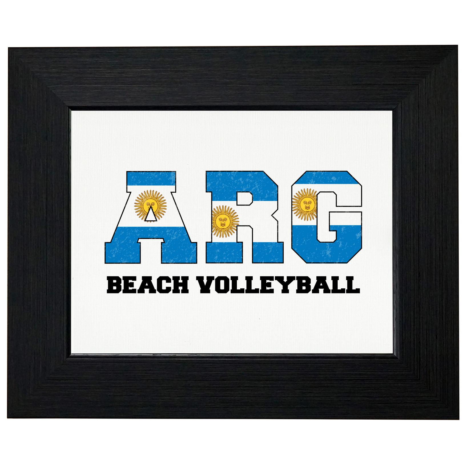 Argentina Beach Volleyball Olympic Games Rio Flag Framed Print Poster Wall or Desk Mount Options by Royal Prints