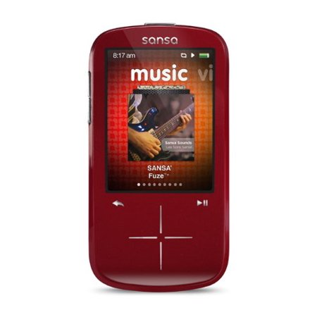 Sansa E200r Series - SanDisk Sansa Fuze+ 4 GB MP3 Player _Red_ _Discontinued by Manufacturer_