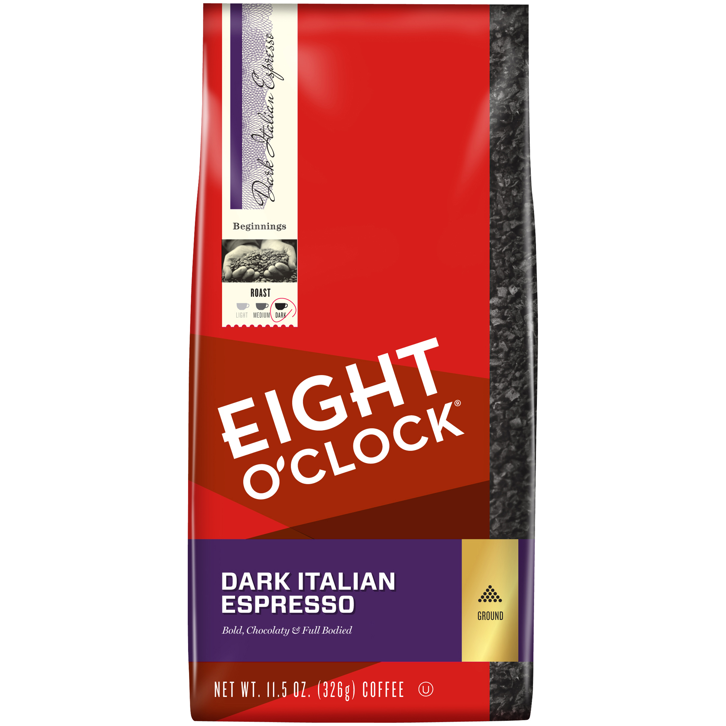 Eight O'Clock® Dark Italian Espresso Ground Coffee 11.5 oz. Bag