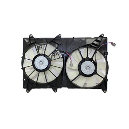 Dual Radiator and Condenser Fan Assembly - Cooling Direct For/Fit TO3115128 01-07 Toyota Highlander 4cy WITH TOWING (6cy WITHOUT TOW) 01-03 Lexus -