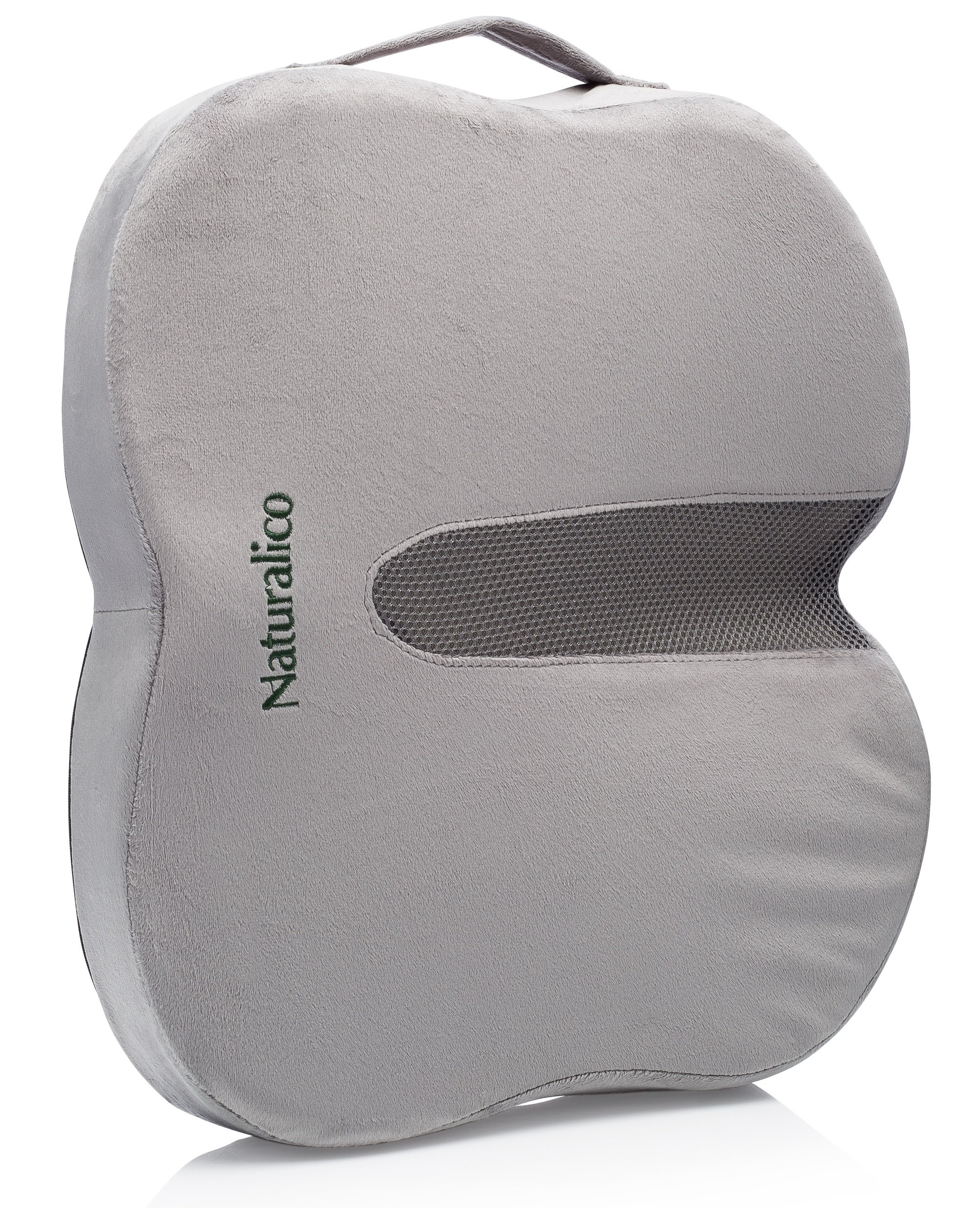 Naturalico Memory Foam Seat Cushion With Cooling Pad   Universal Car,  Office Chair, Vehicle