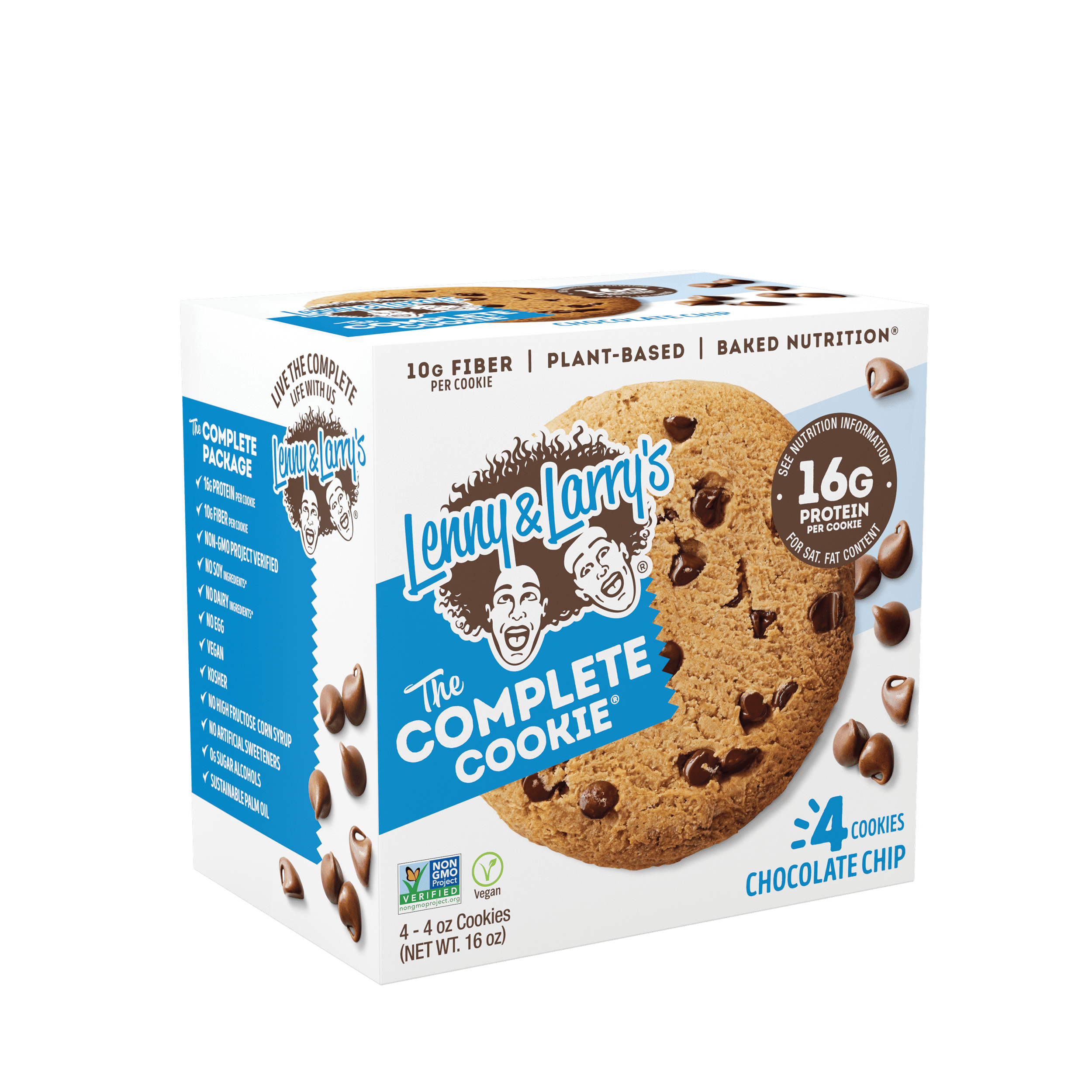 Lenny Larry S The Complete Cookie Chocolate Chip 16g Protein 4 Ct Walmart Com Walmart Com
