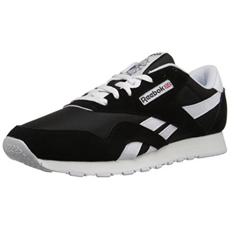 926bd9832b4 Reebok - Reebok 6604  Men s Classic CL Nylon Black White Sneaker (13 D(M)  US Men) - Walmart.com