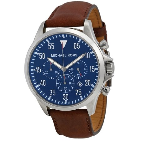 Michael Kors Men's Gage Chronograph Brown Leather Strap Watch MK8362 Guess Brown Leather Strap