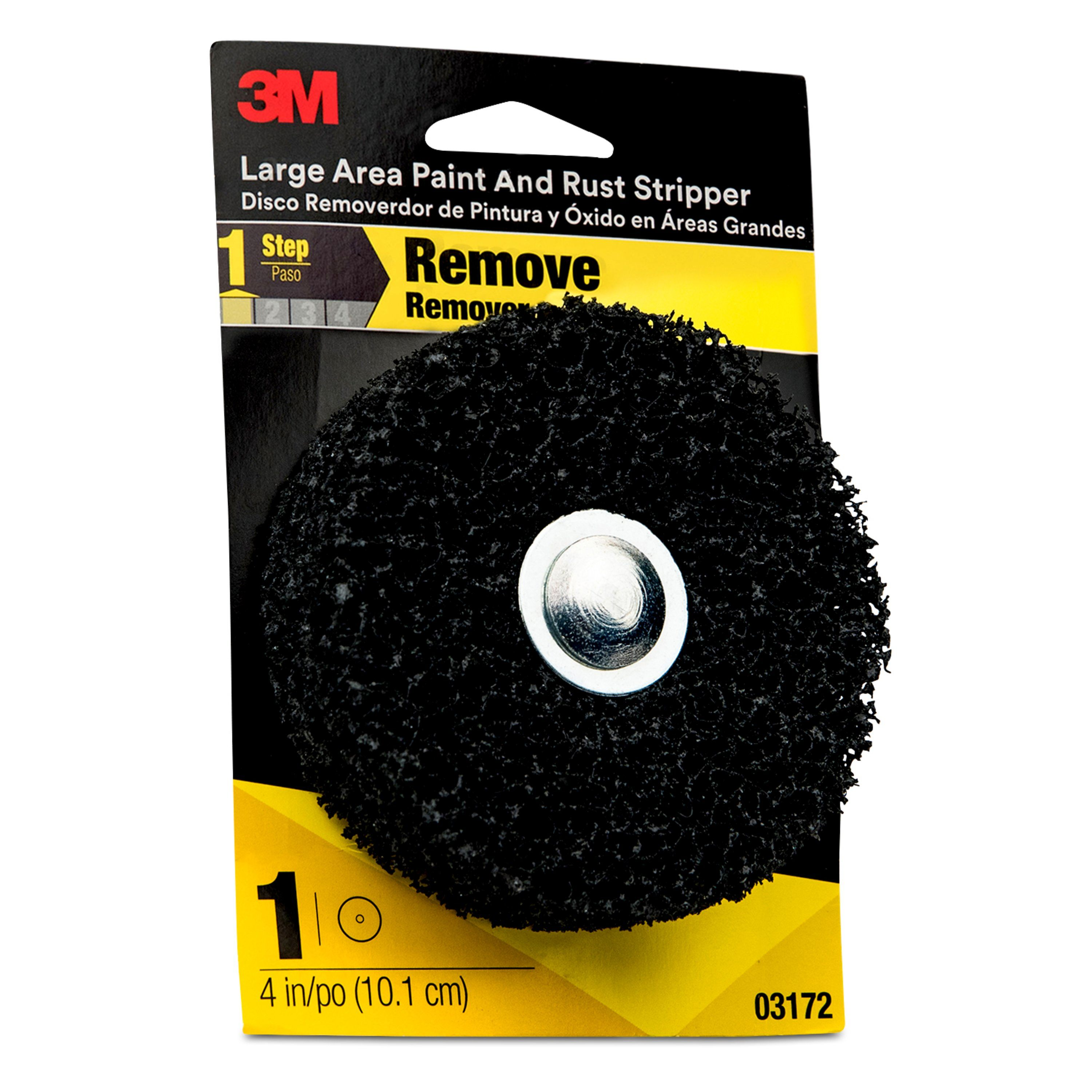 3M Large Area Heavy Duty Paint and Rust Stripper, 03172, 4 inch
