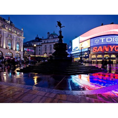 Piccadilly Circus, London, England, United Kingdom, Europe Print Wall Art By Ben Pipe ()