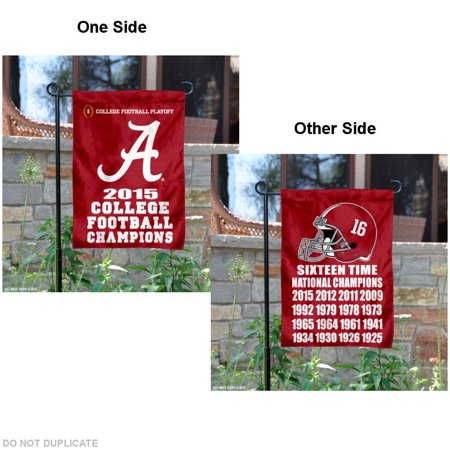 Alabama Crimson Tide 16 Time Football Champions 13  X 18  College Garden Flag