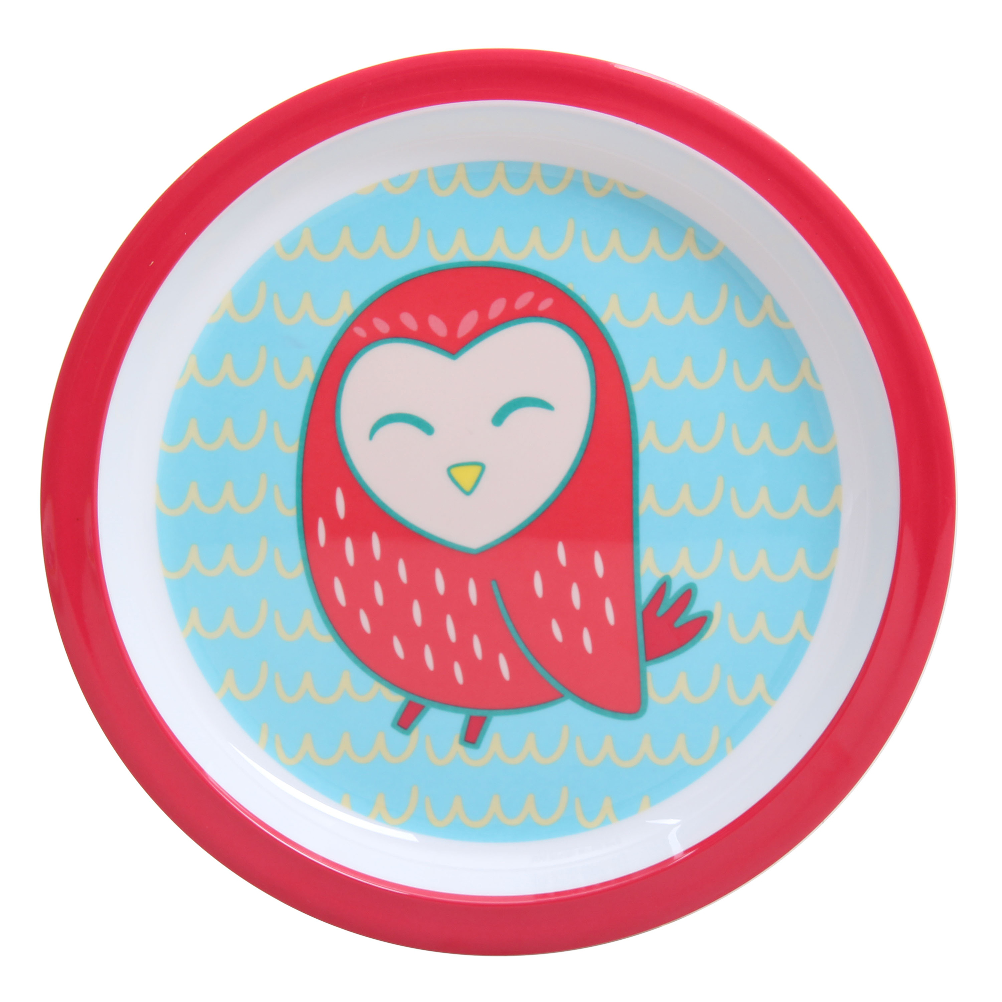Mainstays Melamine Girl Owl 6-Pack Plate Set