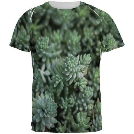 Man Eating Plant Costume (Halloween Succulent Bush Costume Nature Plants All Over Mens T)