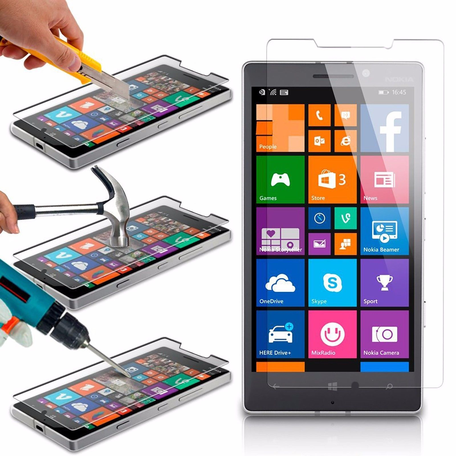 Tech Express Premium HD Tempered Glass Screen Protector for Nokia Lumia 635