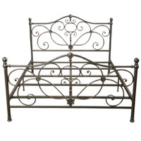 San Luis Queen Champagne Iron Bed