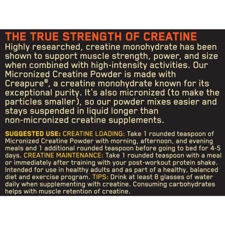 Best Optimum Nutrition Micronized Creatine Powder, 114 Servings deal