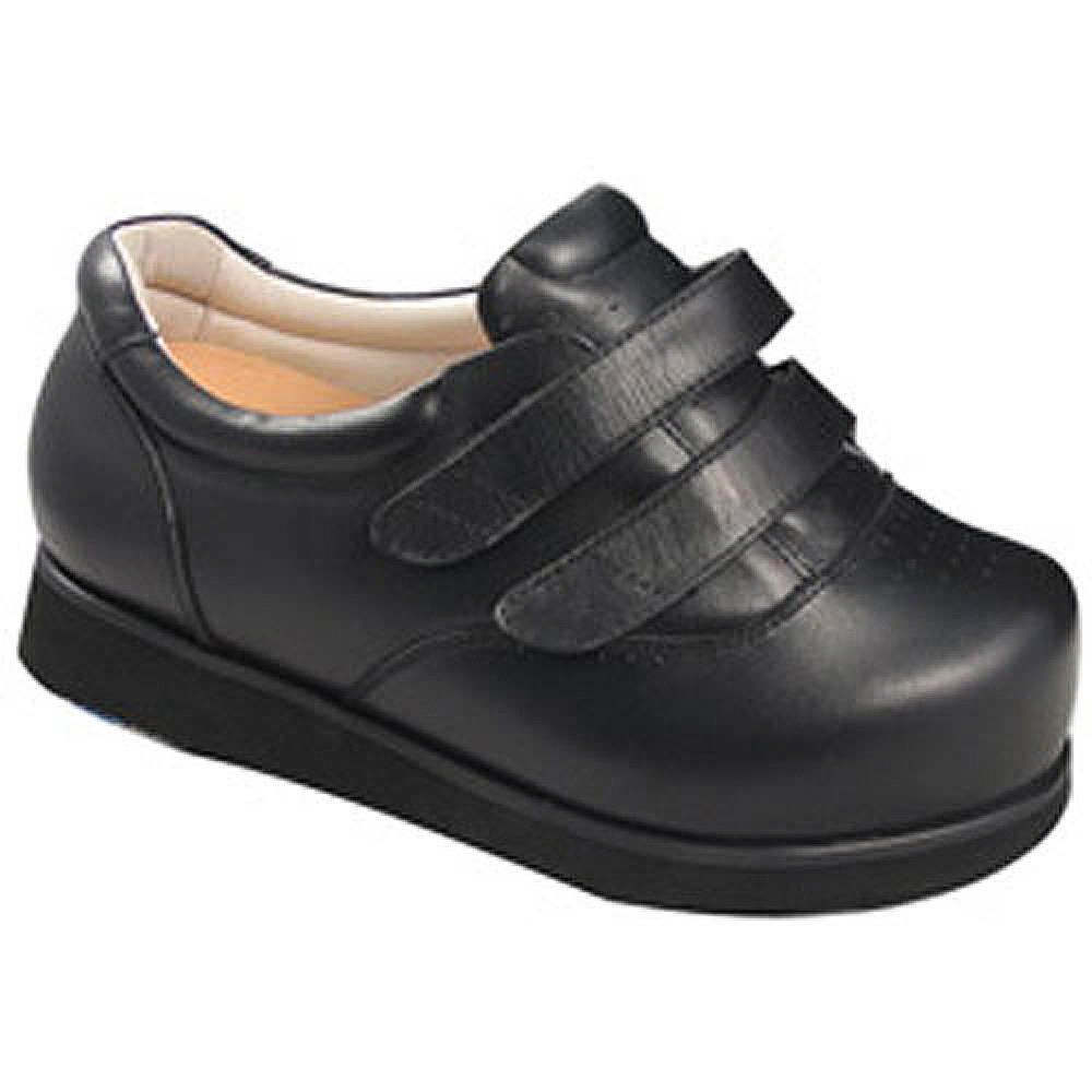 Apis Mt. Emey 9301-X Women's Casual Edema Shoe: 15 X-Wide (14E) Black Velcro