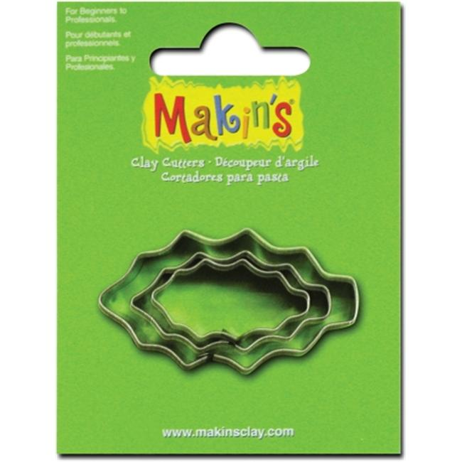 Makins USA 159313 Makins Clay Cutters 3-Pkg-Holly Leaf