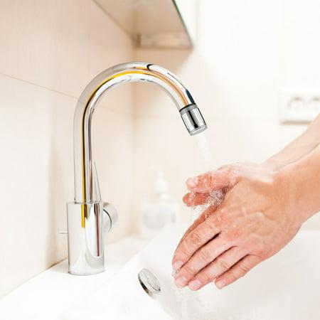 3 Color LED Light Change Faucet Water Tap Temperature Sensor Water Faucet - image 2 de 5