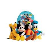 Disney Plush Set - Mickey Mouse, Pluto, Donald Duck, Goofy with Sling Bag 5Pcs