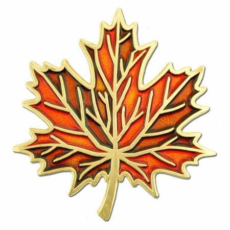 Autumn Fall Maple Leaf Enamel Lapel Pin