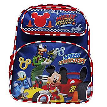 - Small Backpack - Disney - Mickey Mouse - Roadster Racers Red/Blue 12