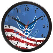 Frontier 12C Aqua Force 12 in. Plastic Wall Clock with Navy Blue Dial