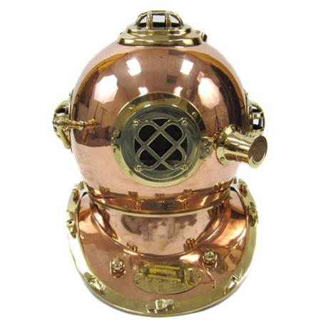 EC World Imports Replica U.S. Navy Mark V Brass Diving Helmet